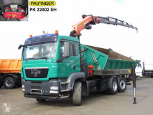 Camión MAN TG-S 26.440 6x4H-2 BL 3-Achs Kipper Kran Funk+Winde, 6xhydr volquete volquete trilateral usado