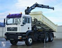 MAN plató teherautó TGA 33.350 Kipper 4,70 m + Kran 6x4 Top Zustand