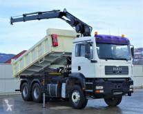 Camion benne MAN TGA 33.350 Kipper 4,70 m + Kran 6x4 Top Zustand