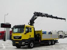 Camion plateau MAN TGS 26.440/6X2/BOX-6,2M+CRANE HIAB 377/RADIO/15M
