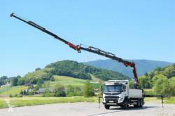 Lastbil Volvo FMX 460 Pritsche 6,20 m+ Kran+JIB/FUNK*6x4 platta begagnad