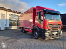 Iveco beverage delivery flatbed truck Stralis AD260SY36 Schiebeplane+LBW Abbiege Euro6