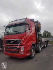Camion plateau ridelles Effer Volvo FH520 8x2 Flatbed truck with 585/8S crane