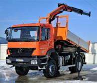Camion platformă Mercedes Axor 1829 Kipper 3,90m +Kran/Funk*4x4 Topzustand
