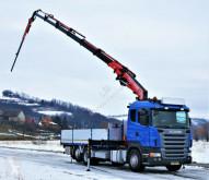 Scania flatbed truck R420 Pritsche 6,25m +Kran/FUNK+JIB *6x2