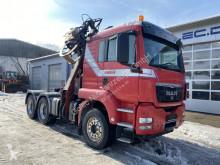 MAN truck 33.480 6x4 Euro 5 Holztransporter Kran + Säge