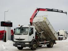 Ciężarówka platforma Renault MIDLUM 220/ 3 SIDED KIPPER+CRANE FASSI F95/RADIO