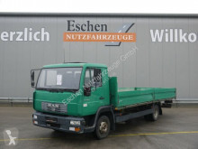 Camión MAN 8.145 LLC Pritsche, 2. Hand, 3 Sitze, Blatt/Luft caja abierta teleros usado