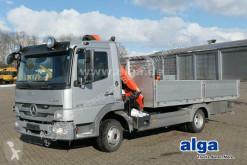 Camion platformă si obloane Mercedes 818 L Atego 4x2, Kran Palfinger PK6501, AHK