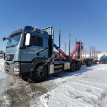 MAN timber trailer truck TGS TGS 26.480 6x4 BL Holztransporter Palfinger