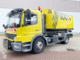 Mercedes Atego 1524 L 4x2 1524 L 4x2, Abrollkipper, Kehrmaschine Brock used snow plough-salt spreader