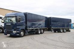 Camion remorque fourgon brasseur Scania R 450 Getänke-Koffezug Lenkachse etade
