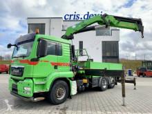 MAN TGS 26.480 6x4H-2 BL Hydrodrive HMF 4220 K5 truck used flatbed