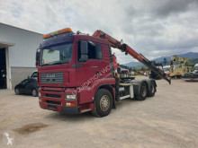 Camión Fassi MAN 28.480 6x2 tractor unit F230AXP.24 caja abierta teleros usado