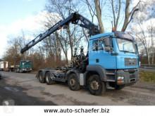 Kamión vozidlo s hákovým nosičom kontajnerov MAN TGX 35.480/8x4/ Kran HIAB 322
