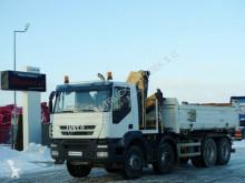 Ciężarówka Iveco STRALIS 410/8X4/TIPPER+ CRANE FASSI F150/RADIO platforma używana