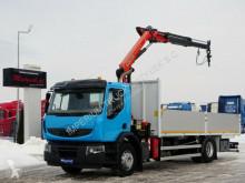 Ciężarówka platforma Renault KERAX 370 DXI / 4X2 / BOX-6,8M+CRANE PALFINGER