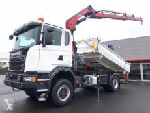 Camión Scania G 490 volquete volquete trilateral usado
