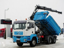 Camion MAN TGA 33.360/ 6X4/ 2 SIDED TIPPER+CRANE HIAB 144/ benă second-hand