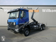 Mercedes hook lift truck Arocs Arocs 3348 AK 6x6 BB, Meiller RK 20.65, 1. Hand