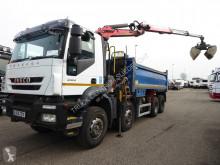 Vrachtwagen Iveco RHD,Eurotracker, AD340T360 met Palfinger Epsilon M125L 82 kraan en grijper tweedehands kipper