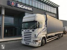 Kamión valník s bočnicami a plachtou Scania R 420 LB