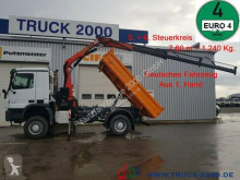 Mercedes three-way side tipper truck Actros 1832 Actros 4x4 Meiller Kran PK 10501 Hydraulik