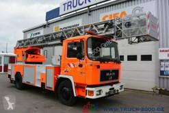 Camión MAN 14.222 Feuerwehr + Drehleiter 30m Rettungskorb bomberos usado