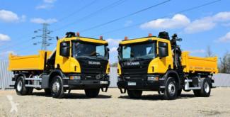 Scania tipper truck P280 Kipper 3,90 m + Kran + Bordmatic !