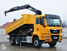 Camion plateau MAN TGS 33.400 Kipper 4,80 m + Kran * 6x4!