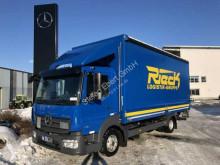 Camión Mercedes Atego Atego 818 L Pritsche/Plane + LBW Spoiler Kamera lona corredera (tautliner) usado