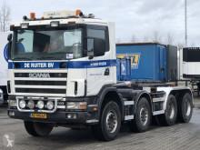 Camión Scania 124 420 HAAKARM / BLADGEVEERD - NAAFREDUCTIE Gancho portacontenedor usado