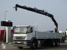 Camion Mercedes AXOR 2633 /6x4/BOX-7,2M + CRANE HIAB 166/ RADIO plateau occasion