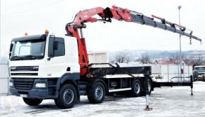 Camión caja abierta DAF CF 85.480 Pritsche 6,50 m+ KRAN/FUNK* 8x4!