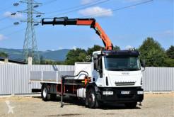 Camião Iveco Eurocargo 180E28 Pritsche 8,00 m + KRAN! estrado / caixa aberta usado