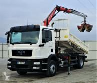 MAN TGM 15.250 Kipper 4,10 m+KRAN/FUNK truck used flatbed