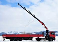 MAN flatbed truck TGA 18.430Sattelzugmaschine+KRAN/F !