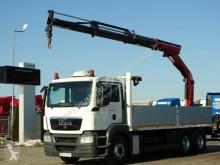 Camion MAN TGS 26.360/6X2/BOX-6,7 M + PALFINGER 16502/RADIO plateau occasion