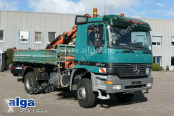 Mercedes three-way side tipper truck 1843 AK 4x4, Allrad, Kran Atlas AK105.1, Klima