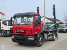 Iveco skip truck Eurocargo EuroCargo ML 180E25K Absetzkipper Deutsch, 1Hd.