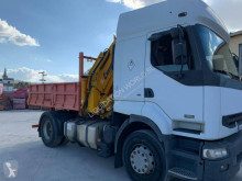 Camion benne Renault Premium 420 4x2 Tipper truck with crane