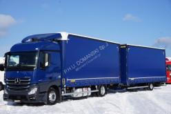 Ciężarówka firanka MERCEDES-BENZ ACTROS / 1830 / ACC / EURO 6 / ZESTAW PRZEJAZDOWY + remorque rideaux coulissants