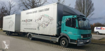 Camion remorque Mercedes Atego 824 L. EURO-5, Blatt Luft, fourgon occasion