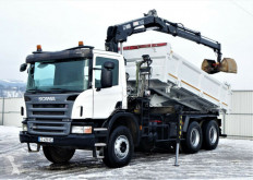 Ciężarówka platforma Scania P380 Pritsche 4,70m + Kran *6x4* Topzustand!