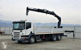 Camión caja abierta Scania P340 Pritsche 7,10m Kran/Funk*Topzustand!