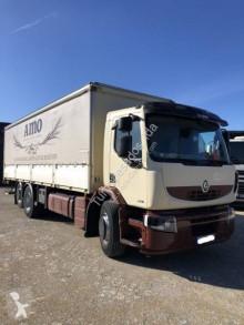 Renault ponyvával felszerelt plató teherautó Premium 370.26 DXI