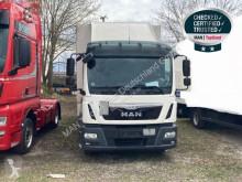 MAN tarp truck TGL 12.220 BL-PRITSCHE PLANE-AHK-LBW-KLIMA-EURO6