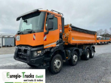 Renault three-way side tipper truck Gamme K K 460/8x4/Meiller 3-S-Kipper Bordmatic/EURO6