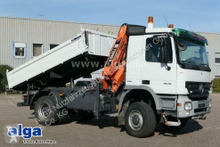 Mercedes three-way side tipper truck Actros 1848 AK Actros 4x4, Allrad, Kran Atlas 165.2E