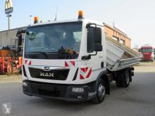 MAN three-way side tipper truck TGL TG-L 8.190 4x2 BB 2-Achs Kipper 3te Sitz, Maul+Kugel